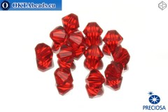 Preciosa Crystal Bicone - Light Siam 6mm, 12pc