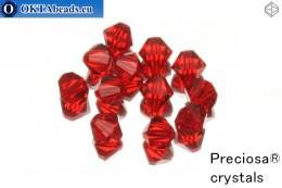 Preciosa Crystal Bicone - Light Siam 6mm, 12pc 6PRcrys2