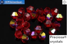 Preciosa Crystal Bicone - Light Siam AB 3mm, 24pc