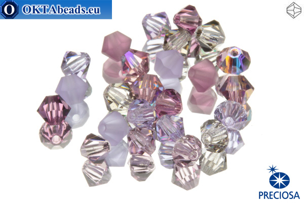 Preciosa Crystal Bicone - Lilacs 4mm, 24pc