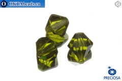 Preciosa Crystal Bicone - Olivine 10mm, 3pc