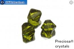 Preciosa Crystal Bicone - Olivine 10mm, 3pc 10PRcrys3