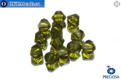Preciosa Crystal Bicone - Olivine 6mm, 12pc