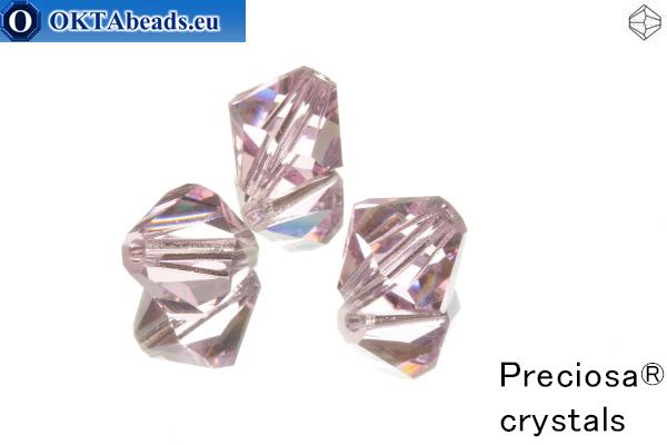 Preciosa Crystal Bicone - Pink Sapphire 10mm, 3pc