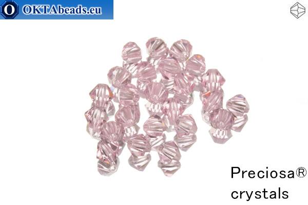 Preciosa Křišťálové Korálky - Pink Sapphire 4mm, 24ks