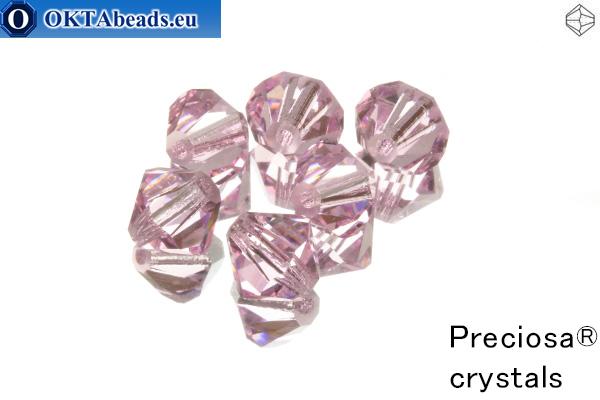 Прециоза Хрустальные Биконусы - Pink Sapphire 8мм, 6шт