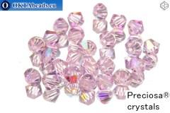 Preciosa Crystal Bicone - Pink Sapphire AB 4mm, 24pc