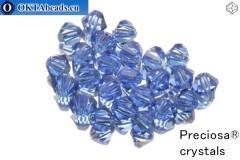 Preciosa Crystal Bicone - Sapphire 4mm, 24pc