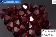 Preciosa Crystal Bicone - Siam 4mm, 24pc
