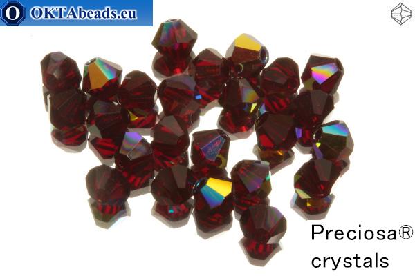 Preciosa Crystal Bicone - Siam AB 4mm, 24pc