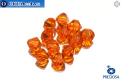 Preciosa Crystal Bicone - Sun 6mm, 12pc