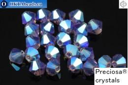 Прециоза Хрустальные Биконусы - Tanzanite AB 2x 4мм, 24шт 4PRcrys117