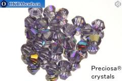 Preciosa Crystal Bicone - Tanzanite AB 3mm, 24pc