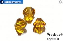 Preciosa Křišťálové Korálky - Topaz 10mm, 3ks 10PRcrys6