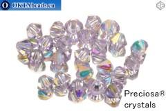 Preciosa Crystal Bicone - Violet AB 4mm, 24pc