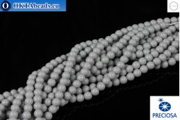 Preciosa crystal pearls Ceramic Grey 4mm, 1pc PRpearl-015