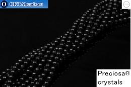 Preciosa crystal pearls Magic Black 4mm, 1pc PRpearl-008