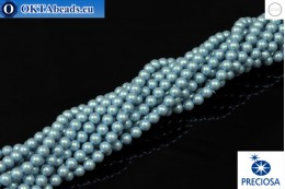 Preciosa křišťálové perly Pearlescent Blue 4mm, 1ks PRpearl-012
