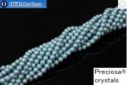 Preciosa crystal pearls Pearlescent Blue 4mm, 1pc PRpearl-012