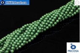 Preciosa křišťálové perly Pearlescent Green 4mm, 1ks PRpearl-002