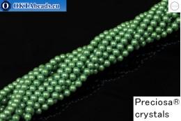 Preciosa crystal pearls Pearlescent Green 4mm, 1pc PRpearl-002