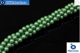 Preciosa křišťálové perly Pearlescent Green 6mm, 1ks PRpearl-005