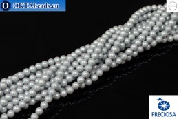 Preciosa crystal pearls Pearlescent Grey 4mm, 1pc PRpearl-014