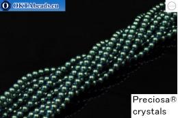 Прециоза хрустальный жемчуг Pearlescent Peacock Green 4мм, 1шт PRpearl-003