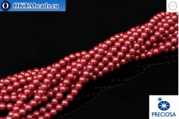 Preciosa crystal pearls Pearlescent Red 4mm, 1pc PRpearl-007