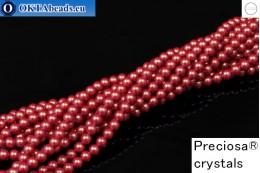 Прециоза хрустальный жемчуг Pearlescent Red 4мм, 1шт PRpearl-007