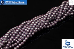 Preciosa crystal pearls Pearlescent Violet 4mm, 1pc PRpearl-009