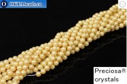 Прециоза хрустальный жемчуг Pearlescent Yellow 4мм, 1шт PRpearl-006
