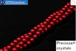 Прециоза хрустальный жемчуг Red 6мм, 1шт PRpearl-013