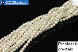 Прециоза хрустальный жемчуг White 4мм, 1шт PRpearl-010