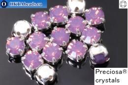 Sew on Preciosa MAXIMA chaton in set Amethyst Opal - Silver ss16/4mm, 15pc PR_chat_012