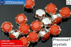 Našívací šaton Preciosa MAXIMA v kotlíku Coral - Silver ss16/4mm, 15ks