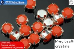 Sew on Preciosa MAXIMA chaton in set Coral - Silver ss16/4mm, 15pc PR_chat_032
