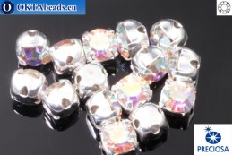 Našívací šaton Preciosa MAXIMA v kotlíku Crystal AB - Silver ss16/4mm, 15ks PR_chat_002