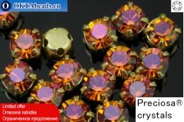 Sew on Preciosa MAXIMA chaton in set Crystal Lava - Gold ss16/4mm, 15pc PR_chat_029