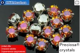 Sew on Preciosa MAXIMA chaton in set Crystal Lava - Silver ss16/4mm, 15pc PR_chat_040