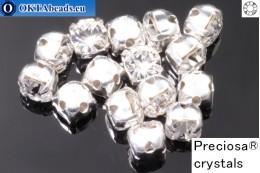 Пришивные шатоны Прециоза MAXIMA в цапах Crystal - Silver ss16/4мм, 15шт PR_chat_001