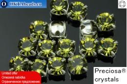 Sew on Preciosa MAXIMA chaton in set Khaki - Silver ss16/4mm, 15pc PR_chat_047