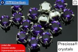 Sew on Preciosa MAXIMA chaton in set Purple Velvet - Silver ss16/4mm, 15pc PR_chat_033