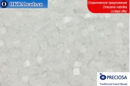 Прециоза чешская рубка шелк белая 10/0, ~50гр 2CR001