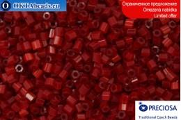 Preciosa czech 2CUT silk atlas red 10/0, ~50g