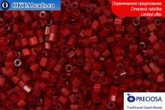 Прециоза чешская рубка шелк красная 10/0, ~50гр 2CR002