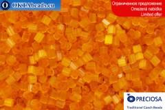 Прециоза чешская рубка шелк оранжевая 10/0, ~50гр 2CR005
