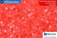 Прециоза чешская рубка шелк розовая 10/0, ~50гр 2CR007
