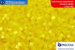 Прециоза чешская рубка шелк желтая 10/0, ~50гр 2CR003