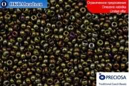 Прециоза чешский бисер коричневый ирис 10/0, ~50гр 2CR044